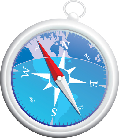 acute angle: Highly detailed vector compass