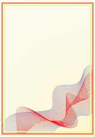 Abstract vector frame Vector