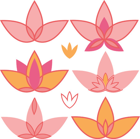 Lotus. Vector design elements