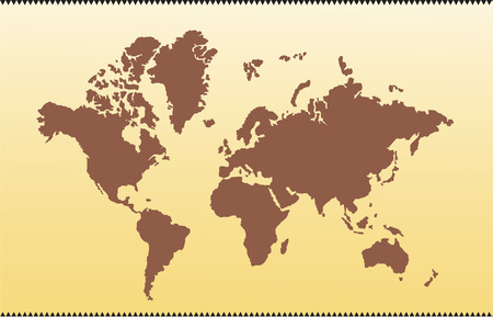 Old vector map of world Vector