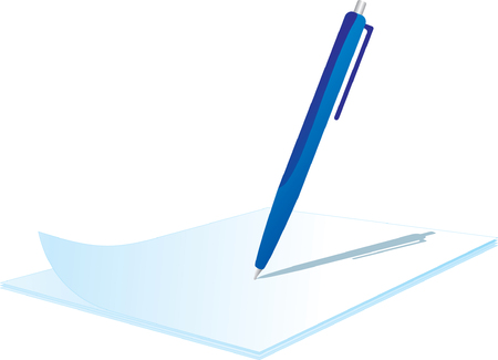 Clipboard with pen on top Stock Vector - 3660382