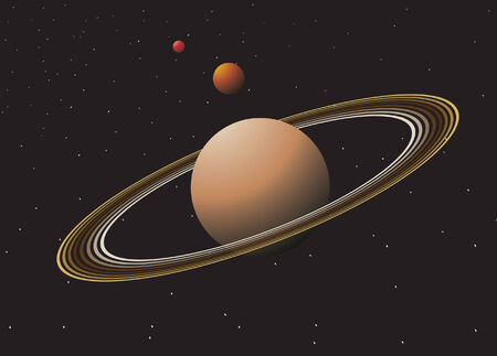 Space with planets. Vector illustration