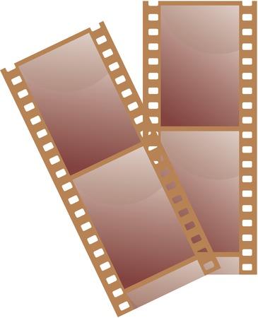 35 mm film. Vector illustration. Vector