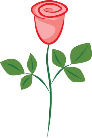 Vector image of a red rose Stock Vector - 3660368