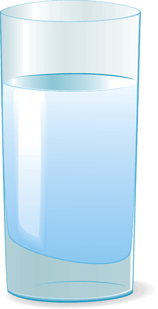 blue glasses: Glass with water. Vector illustration