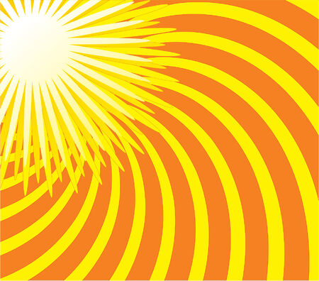 Summer sun. Vector illustration Stock Vector - 3660360