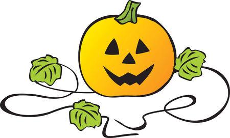 Halloween pumpkin. Vector illustration Vector