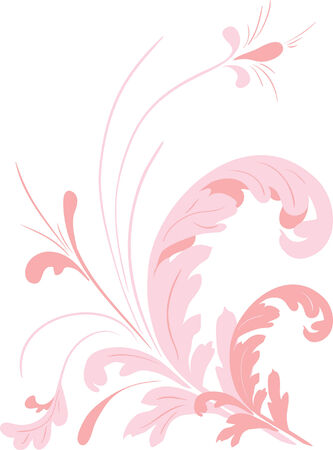Abstract floral elements. Vector illustration Stock Vector - 3660357