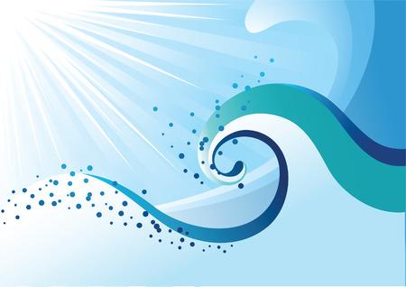 rippled: Abstract onde del mare. Vector illustration