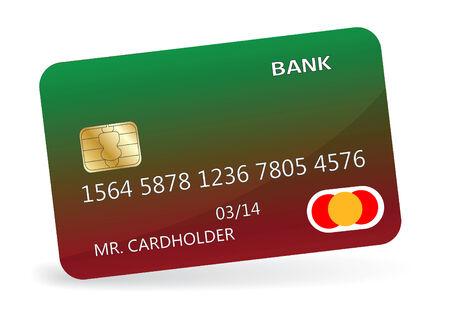 cardholder: Variant of design of a credit card. Vector illustration