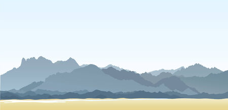 산맥: Mountains and hills. Vector illustration  일러스트