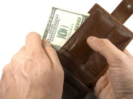 Wallets with dollars photo