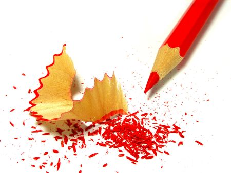 Sharpened pencil and wood shavings Stock Photo - 3853308