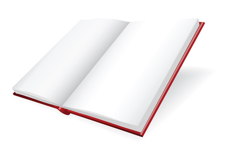 Opened diary. Vector illustration Vector