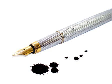 blot: Ink-pen and ink blot
