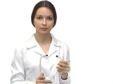 Nurse with phonendoscope Stock Photo - 3860018
