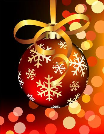 Rode kerst bal op abstracte achtergrond. Vector illustration