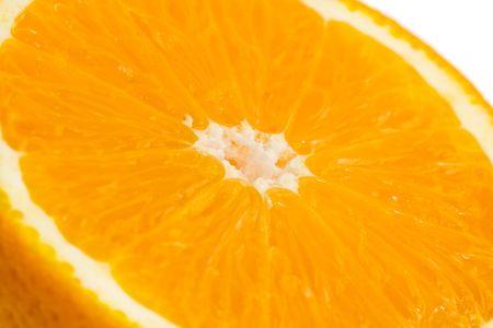 gustatory: Half orange close-up on white background