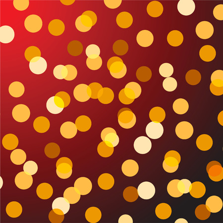 Color christmas lights - abstract background. Vector illustration Vector