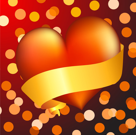 St. valentine's concept: hearts. Vector illustration Stock Vector - 3990416