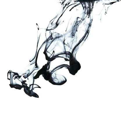 Inkt in water Stockfoto