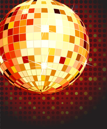 The vector illustration of color disco ball  Vector
