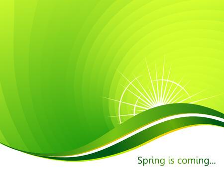 twirl: La primavera que viene. Resumen de antecedentes. Ilustraci�n vectorial