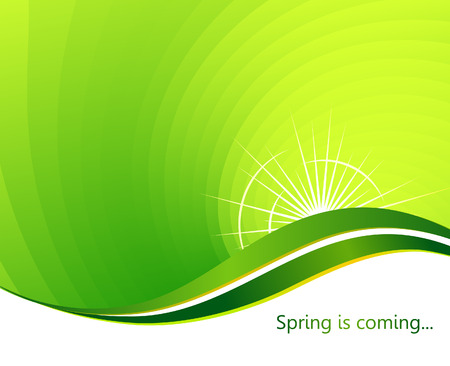 Spring is coming. Abstract background. Vector illustration Vector