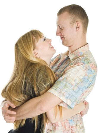 Young couple in love. Isolated on white background Stock Photo - 4328774