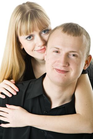 Young couple in love. Isolated on white background Stock Photo - 4366236