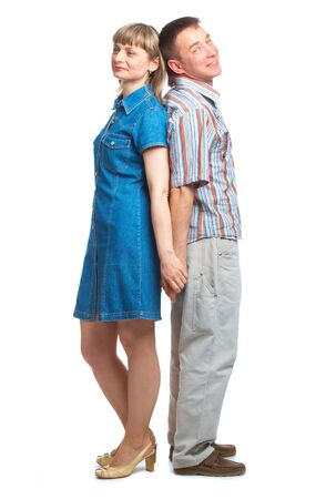 Happy loving couple. Isolated on white background Stock Photo - 5106601