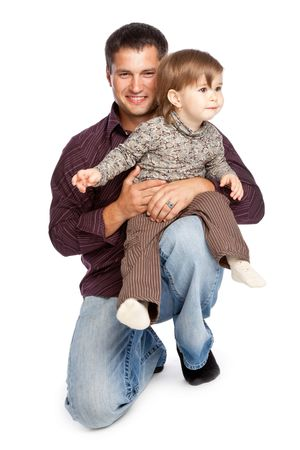 Father and daughter. Isolated on whita background Stock Photo - 5106587