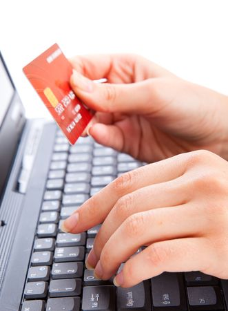 Credit card in hand for buying online Stock Photo - 5625055