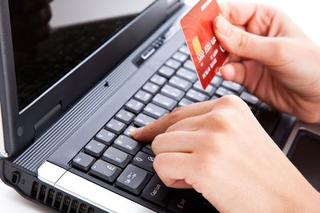 Credit card in hand for buying online Stock Photo - 5884060