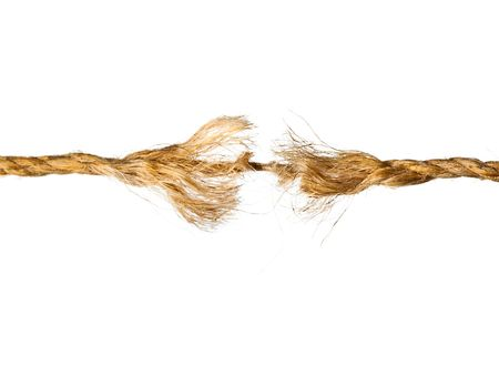 Defective rope. Isolated on the white background Stock Photo - 5884193