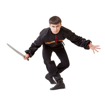 Man with a sword. Isolated on the white background Stock Photo - 5888158