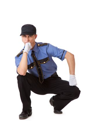 Policeman. Isolated on a white background Stock Photo - 5883968