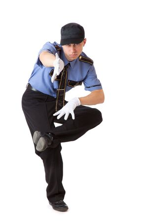 Policeman. Isolated on a white background Stock Photo - 5884030