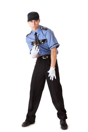 Policeman. Isolated on a white background Stock Photo - 5883970