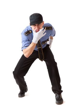 Policeman. Isolated on a white background Stock Photo - 5883978