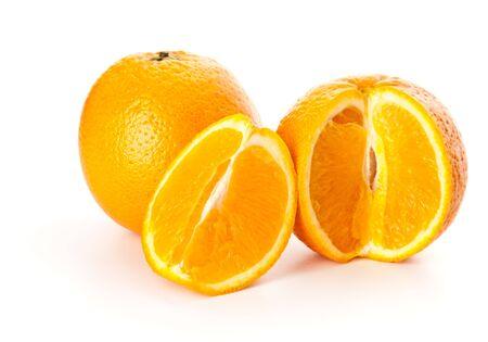 gustatory: Orange fruit. Isolated on white background