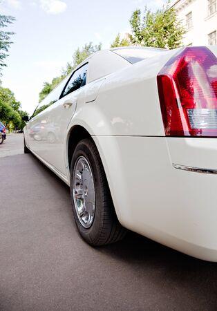 White stretch limousine photo