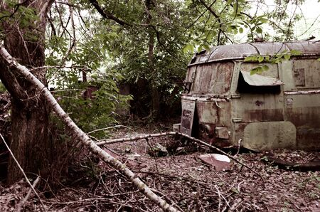 desertion: Old car and destruction facilities