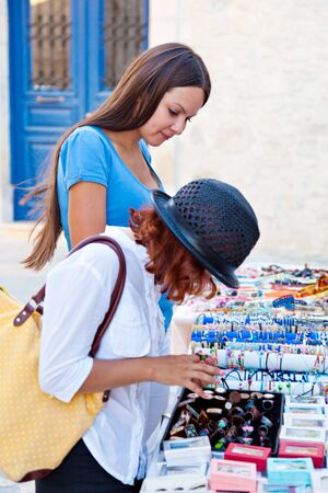 Two young woman are choosing jewellery Stock Photo - 8005321