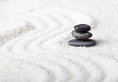 Stones in the zen garden photo