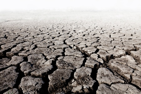 des terres avec sol fissuré sec Banque d'images - 9745540