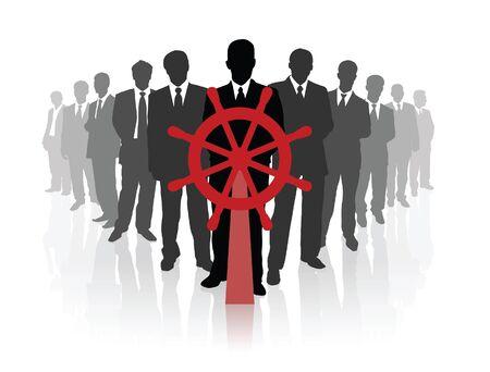 firmeza: El equipo profesional del negocio. Ilustración vectorial