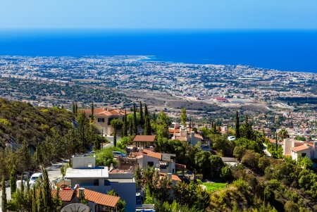 Beautiful view from mountain near Limassol, Cyprus photo