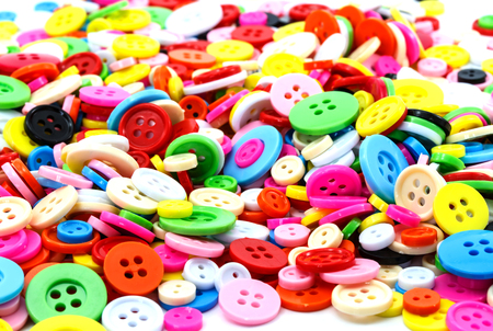Colorful sewing buttons (clasper) for background Stock Photo