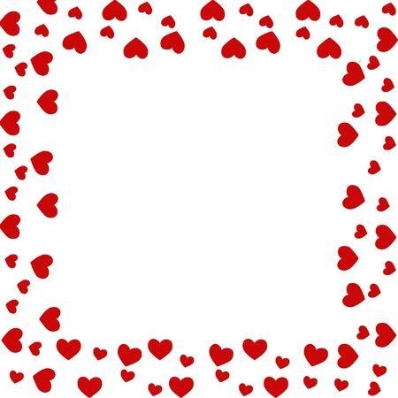 heart border Stock Photo